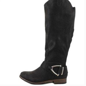 Curfew Bethany Distressed Knne High Boots